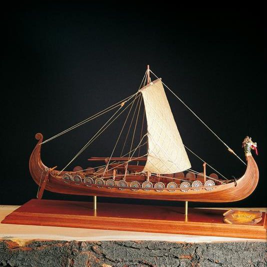 Amati Viking Longboat Kit Wooden Model Boat Kit