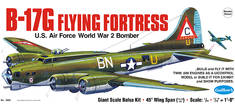 Guillow B-17G Flying Fortress Wooden Aircraft Kit