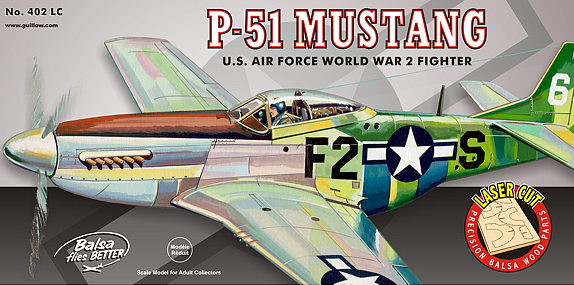Guillow P-51 Mustang Wooden Aircraft Kit