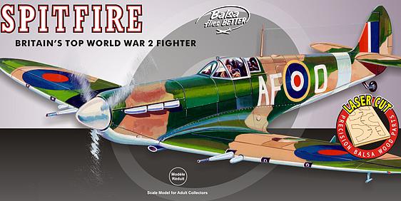 Guillow Spitfire Wooden Aircraft Kit