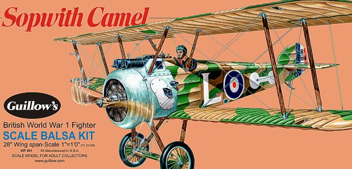 Guillows Sopwith Camel Balsa Plane Kit