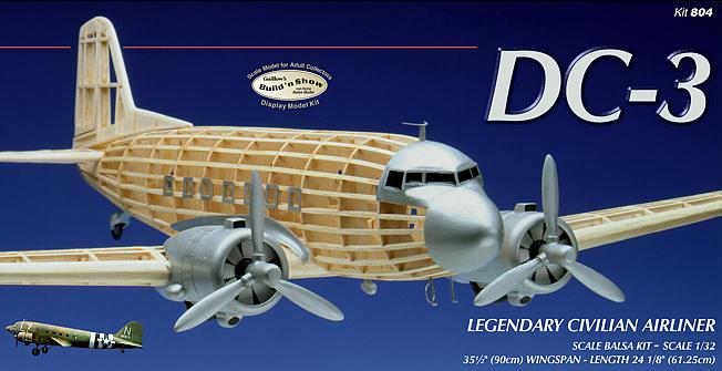 Guillow Douglas DC3 Balsa Wooden Aircraft Kit