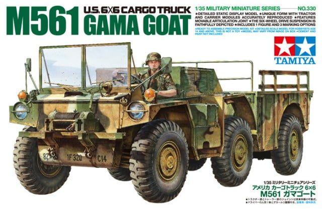 Tamiya M561 Gama Goat US 6x6 Cargo Truck 1:35 Scale Detailed Plastic Model Kit
