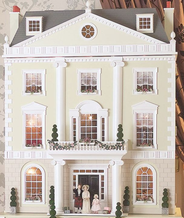 Grosvenor Hall Unpainted Dolls House by Dolls House Emporium