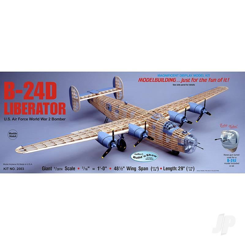 Guillows B-24D Liberator Large Scale Balsa Aircraft Kit