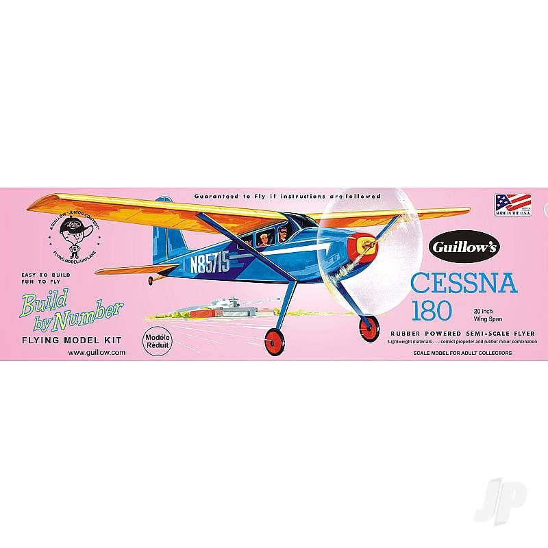Guillows Cessna 180 Build By Numbers Balsa Kit