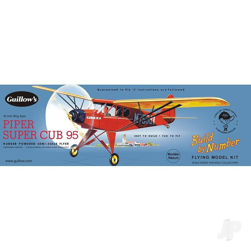 Guillows Piper Super Cub 95 Build by Number Balsa Kit