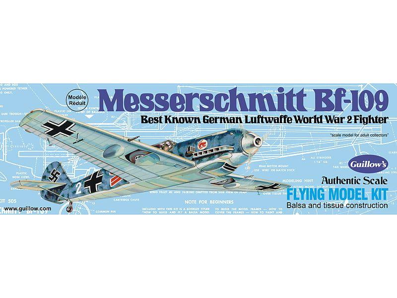 Guillows Messerschmitt BF-109 Balsa Wood Aircraft Kit