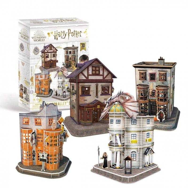 Harry Potter - Diagon Alley 4-in-1 3D Puzzle Set