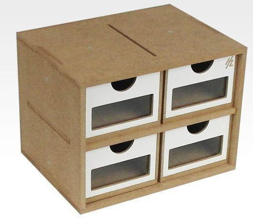 Hobbyzone 4 Drawer Module 20cm Wide Workshop Modular System