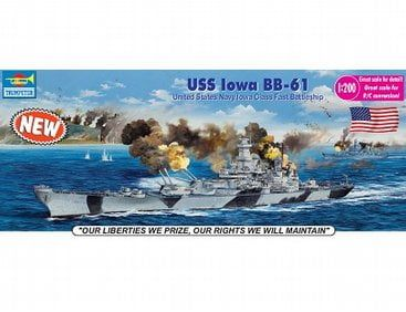 Trumpeter USS Iowa BB-61 1:200 Scale Model Kit 03706