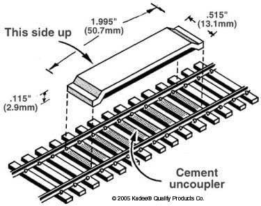 Kadee Delayed Between the Rails Magnet Uncoupler Code 100(1pr)