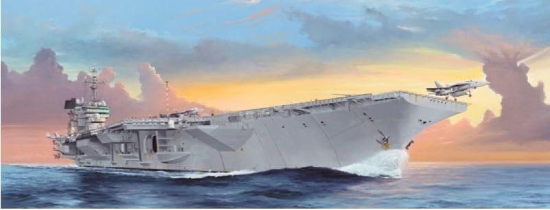 Trumpeter USS Kitty Hawk CV-63 Aircraft Carrier Plastic Model Ship Kit