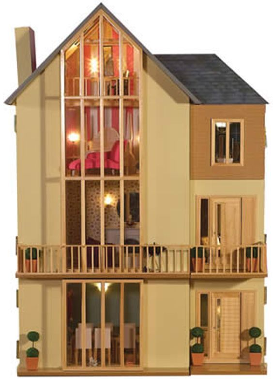 Lake View Dolls House Kit from Dolls House Emporium Unpainted