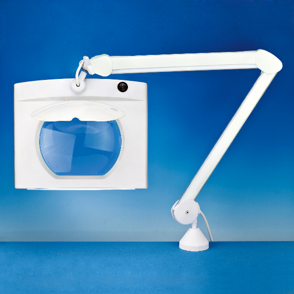 LightCraft Rectangular Long Reach Fluorescent Daylight Magnifier Lamp