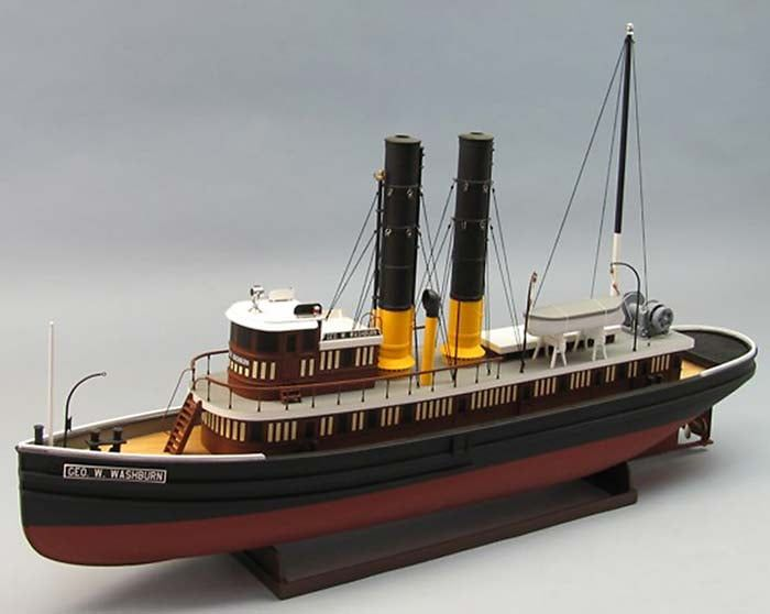 Dumas The George W Washburn 1:48 Scale RC Model Boat Kit