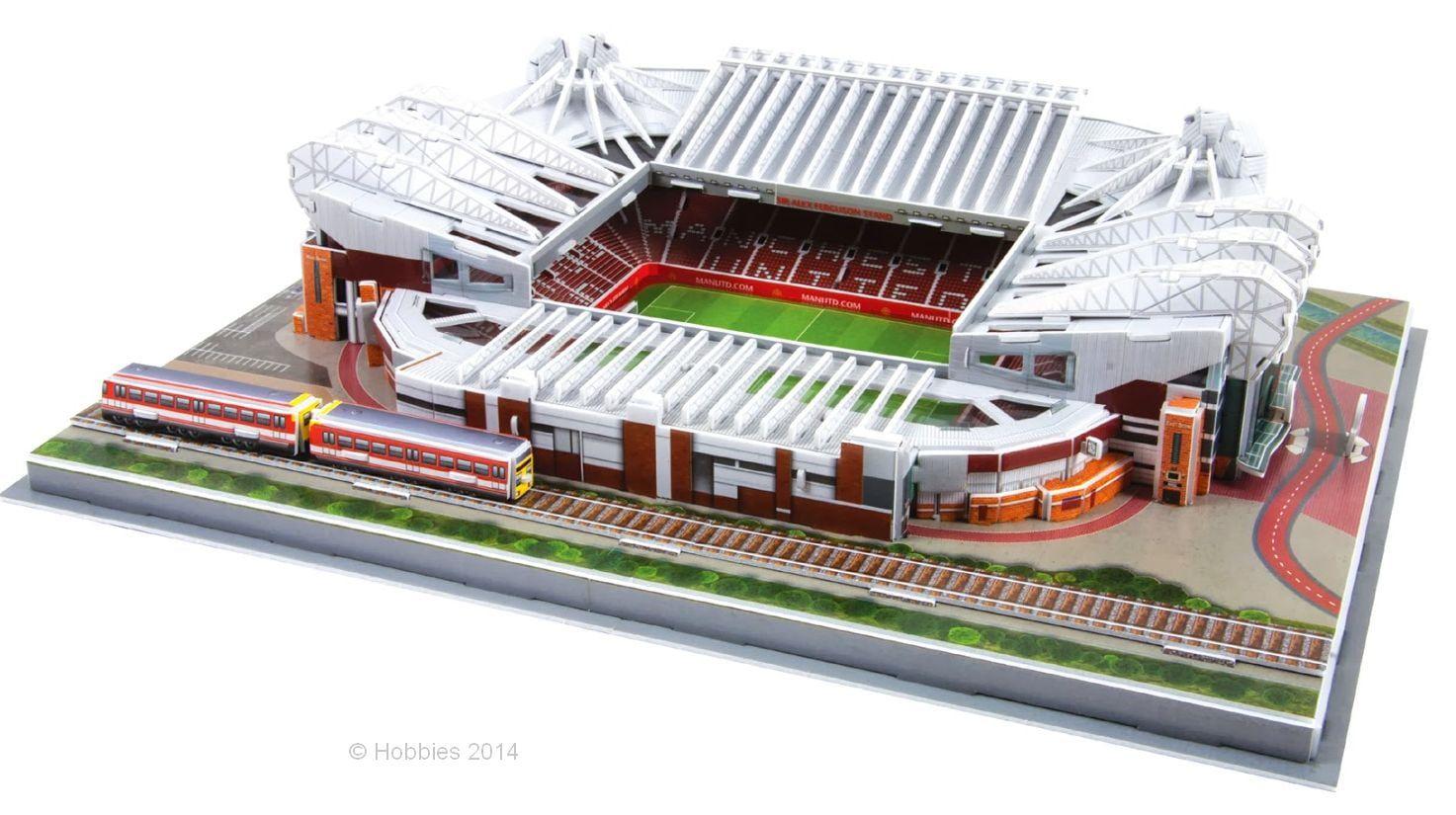 3D Replica Manchester United Football Club Old Trafford Stadium Easyfit Model 395 x 290 x90mm