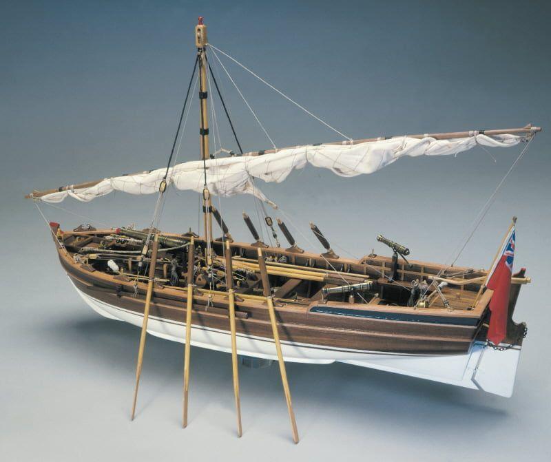 Mantua Models Armed Pinnace Ship Kit - Optional Pre-stitched Sail Set