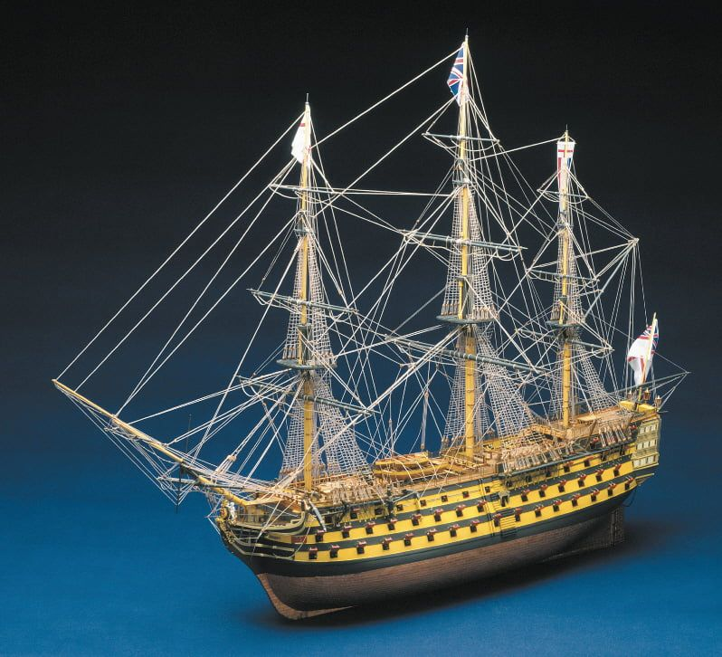 Panart HMS Victory (High Spec) Ship Kit - Optional Pre-made & Stitched Sail Set