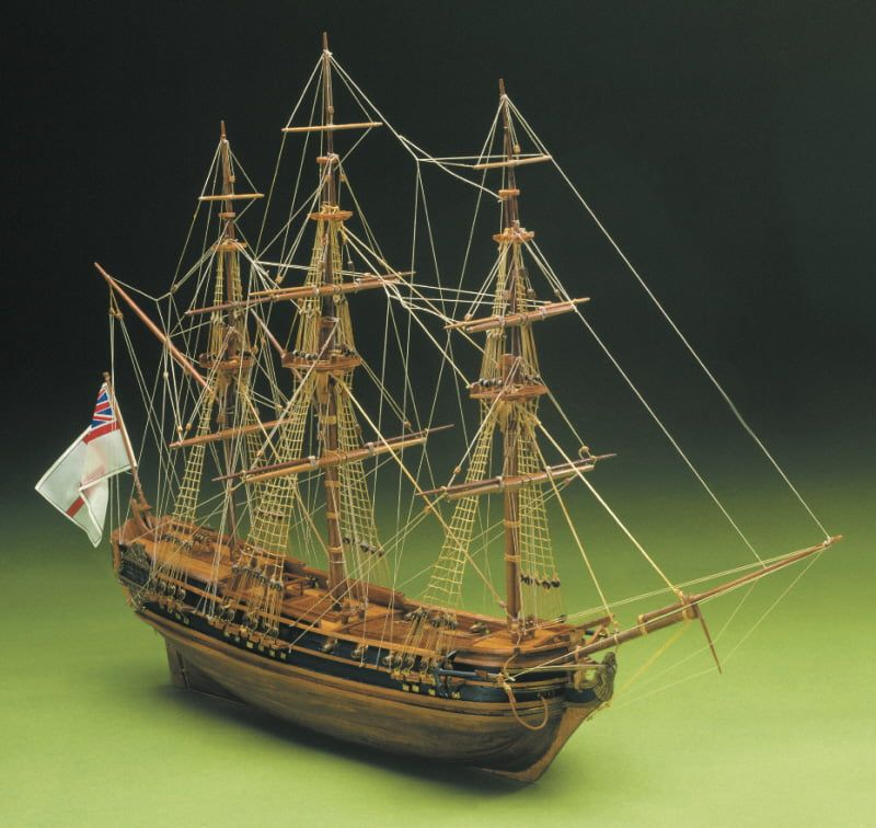 Mantua President English Frigate 1750 Period 1:60 Scale Wooden Model Boat Ship - Optional Pre-made & Stitched Sail Set