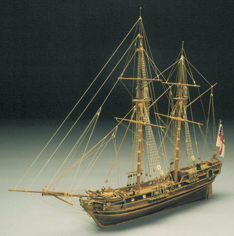 Mantua Models Race Horse Model Ship Kit - Optional Pre-stitched Sail Set