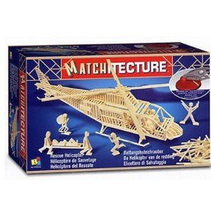 Matchitecture Rescue Helicopter Matchstick Kit