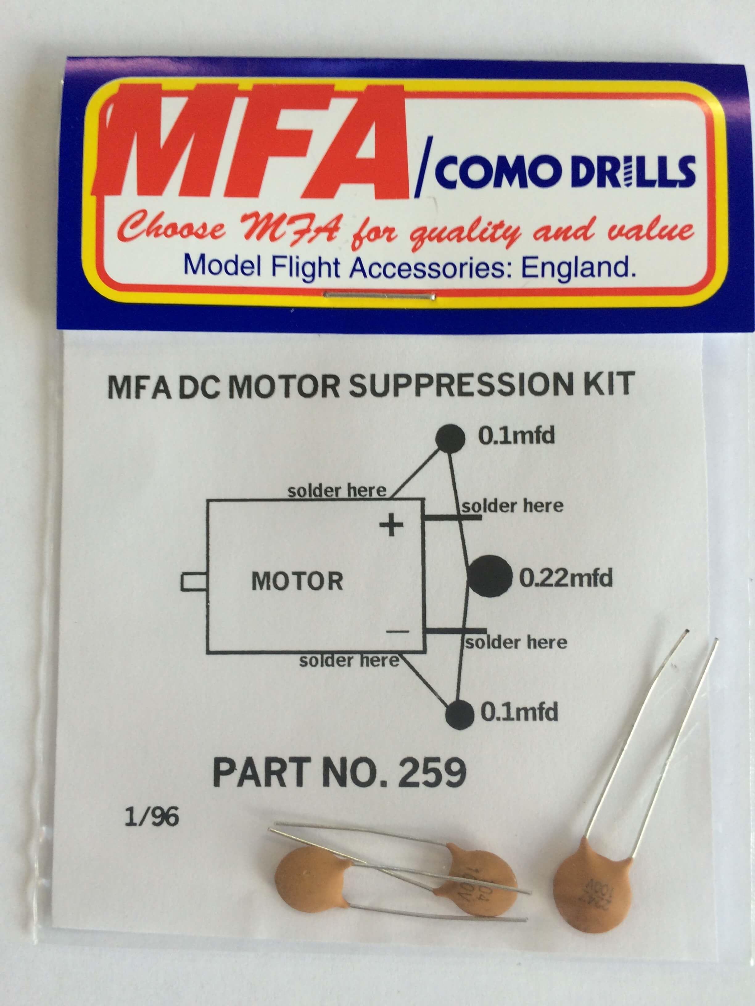 MFA DC Motor Suppression Kit