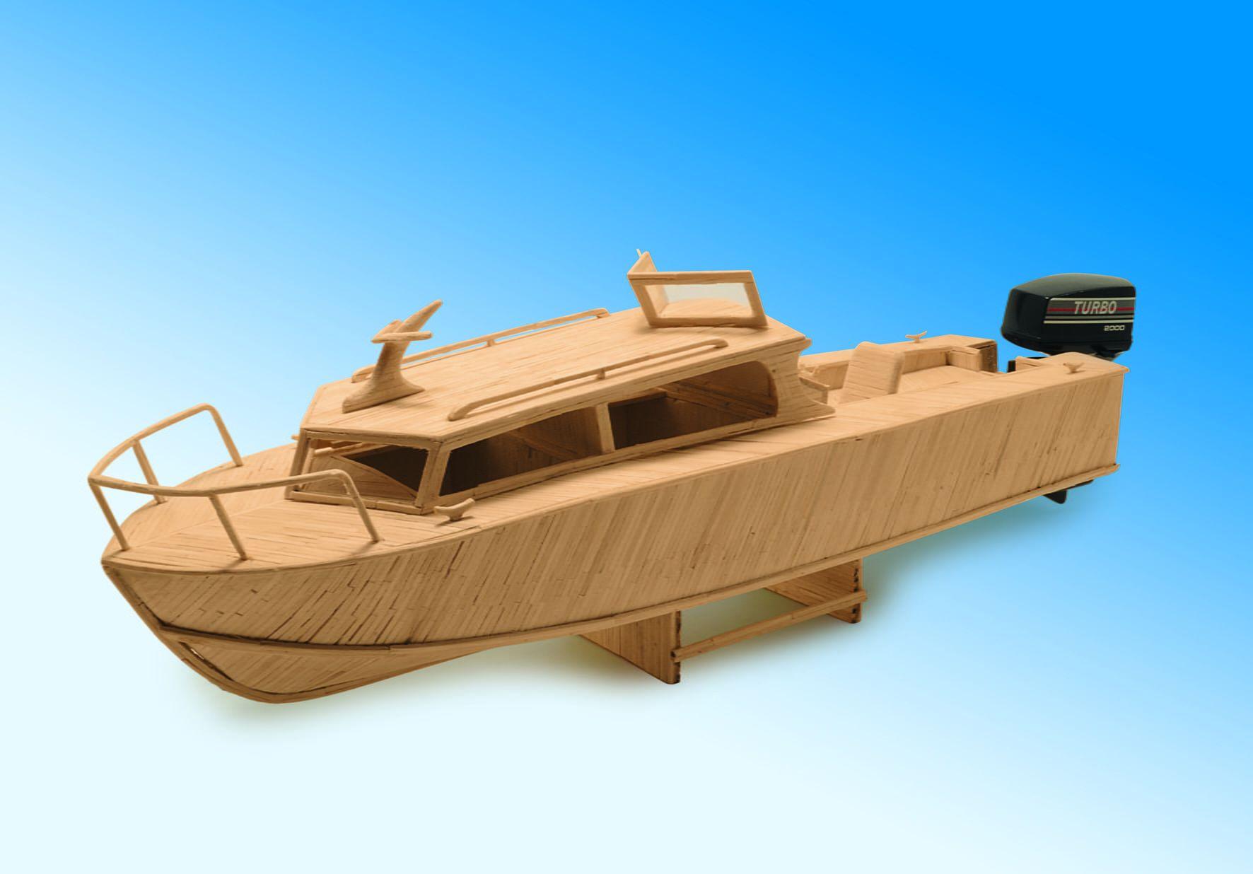 Matchmodeller Cabin Cruiser Matchstick Kit