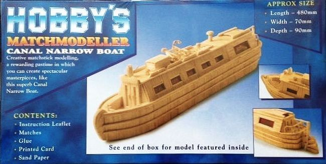 Matchmodeller Canal Narrow Boat Matchstick Kit