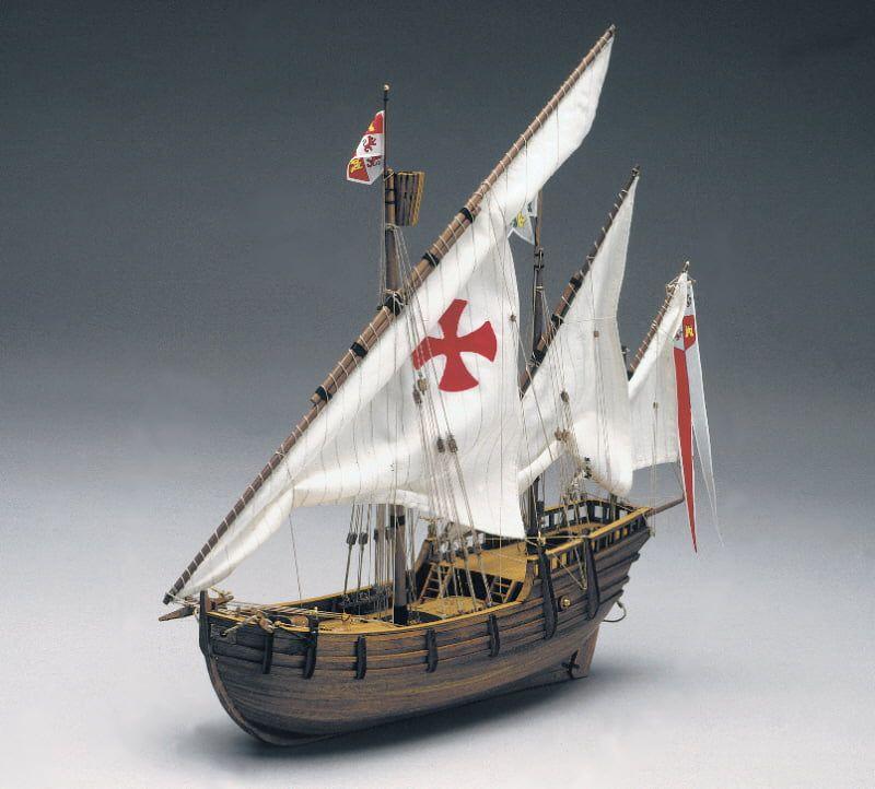 Mantua Models Nina Model Ship Kit - Optional Pre-stitched Sail Set