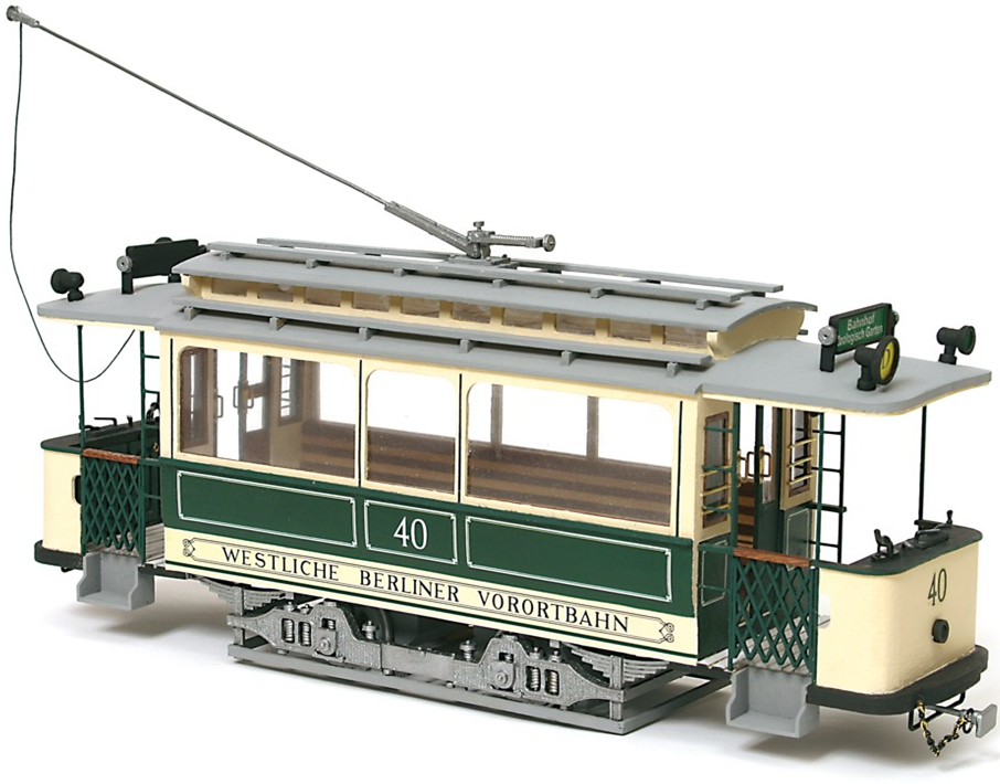 Occre Berlin Tram 1:24 Scale Wood and Metal Model Kit