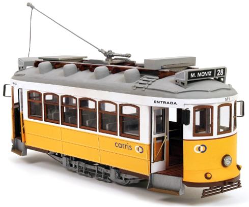 Occre Lisbon Tram 1:24 Scale Wood and Metal Lisboa Model Kit 53005