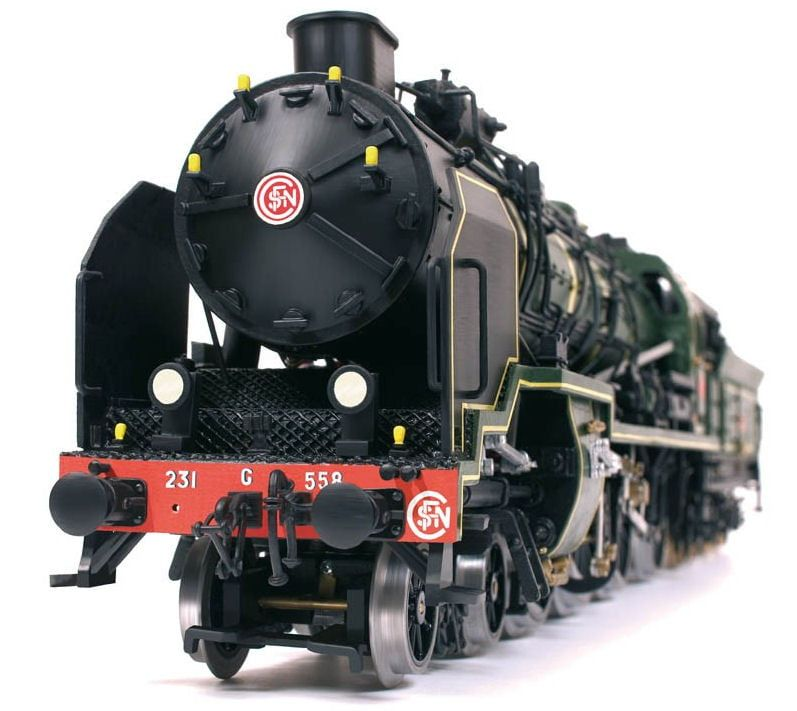 Occre Pacific 231 Train Locomotive 1:32 Scale Wood and Metal Model Kit
