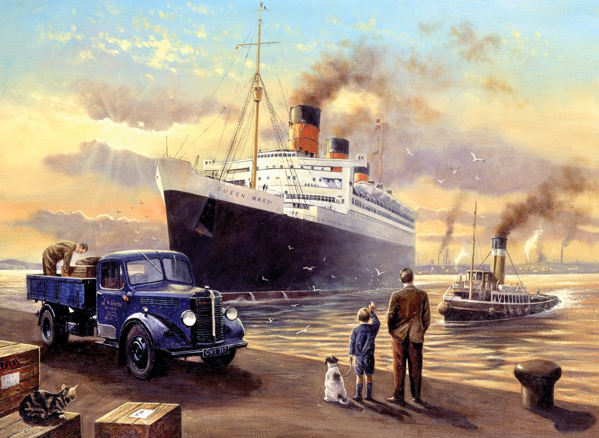 Painting By Numbers Queen Mary Departs