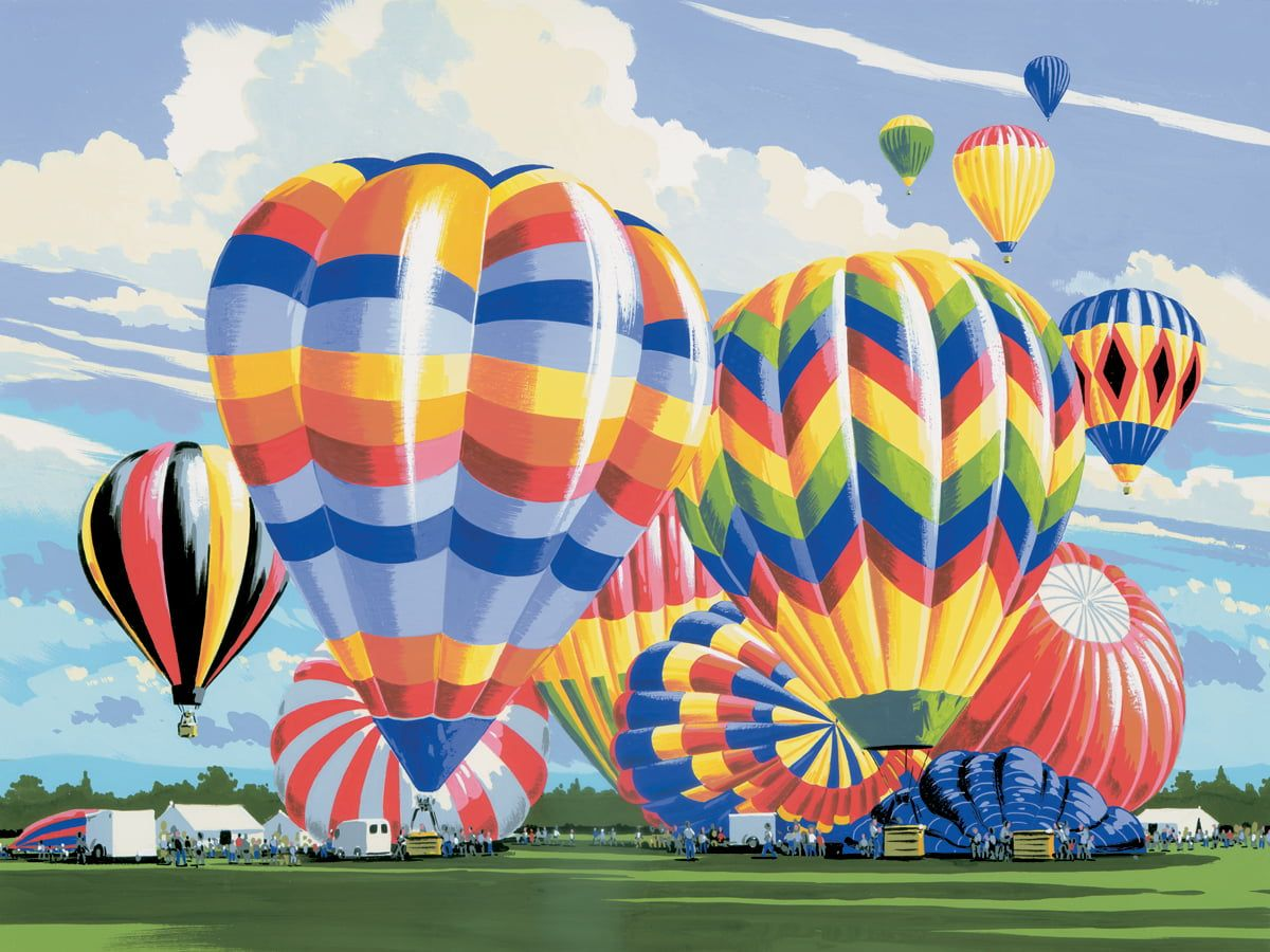 Painting By Numbers Ballooning
