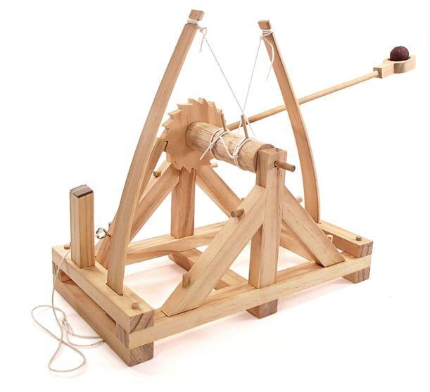 Leonardo Da Vinci Catapult Working Wood Model Kit