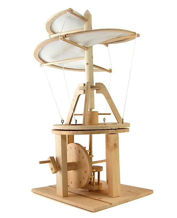 Leonardo da Vinci Aerial Screw Helicopter Working Wood Model Kit