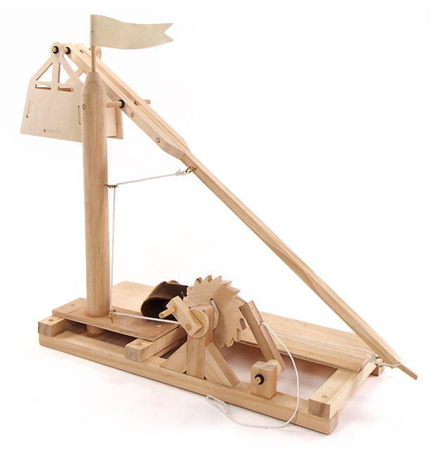 Leonardo da Vinci Trebuchet Working Wood Model Kit
