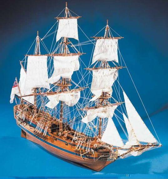 Mantua Models HMS Peregrine Model Ship Kit - Optional Pre-stitched Sail Set
