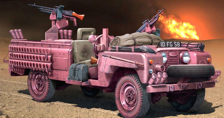 Italeri SAS Recon Vehicle Pink Panther 1:35 Scale Plastic Model Land Rover Kit
