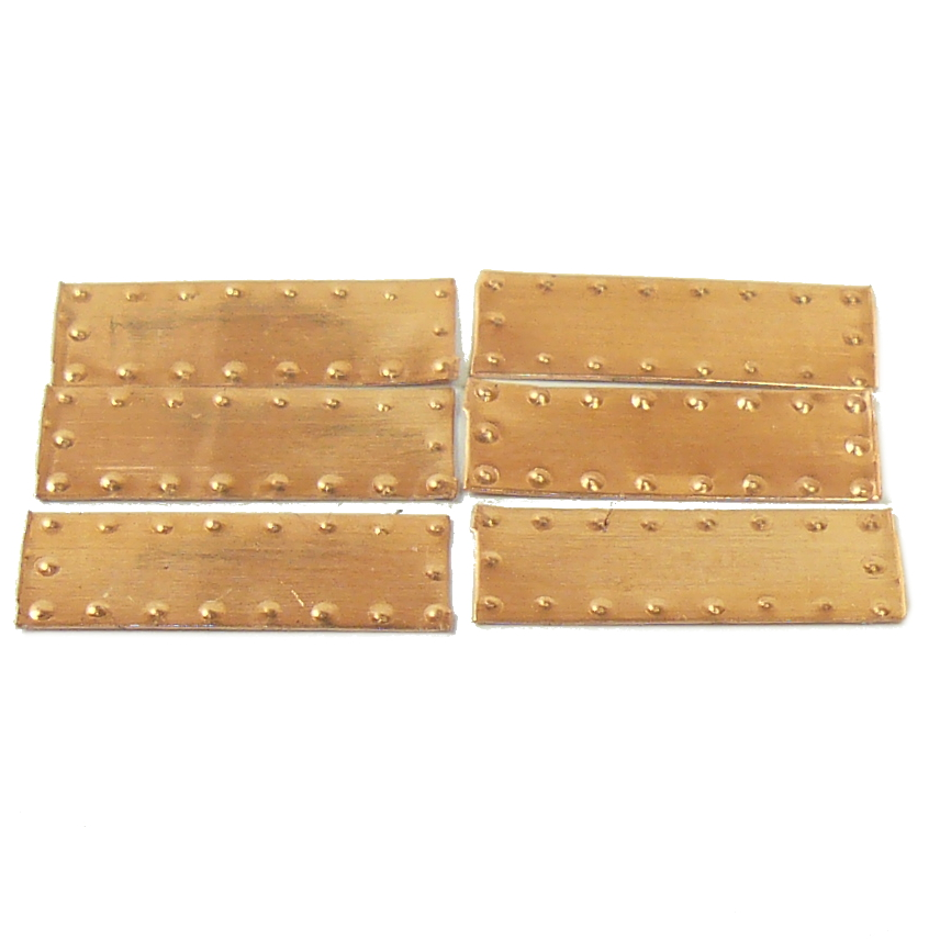Copper Hull Plates for Model Ships Pack of 100