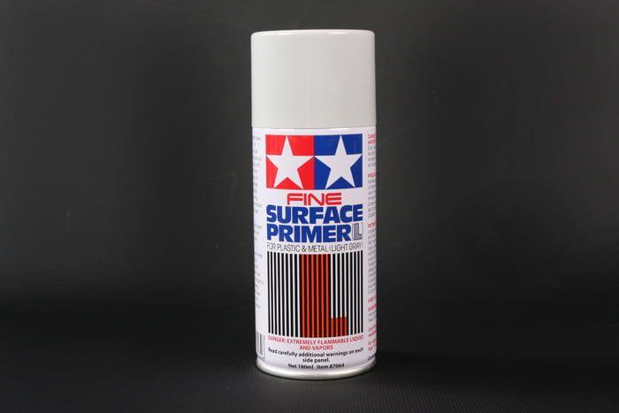Tamiya Fine Surface Primer for Plastic and Metal 180ml - Tamiya White Primer