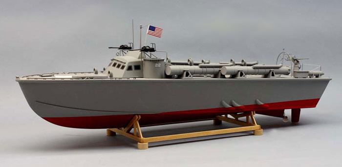 Dumas PT-212 Higgins MTB Preformed Hull Model Boat Kit 1257 - Running Gear Pack