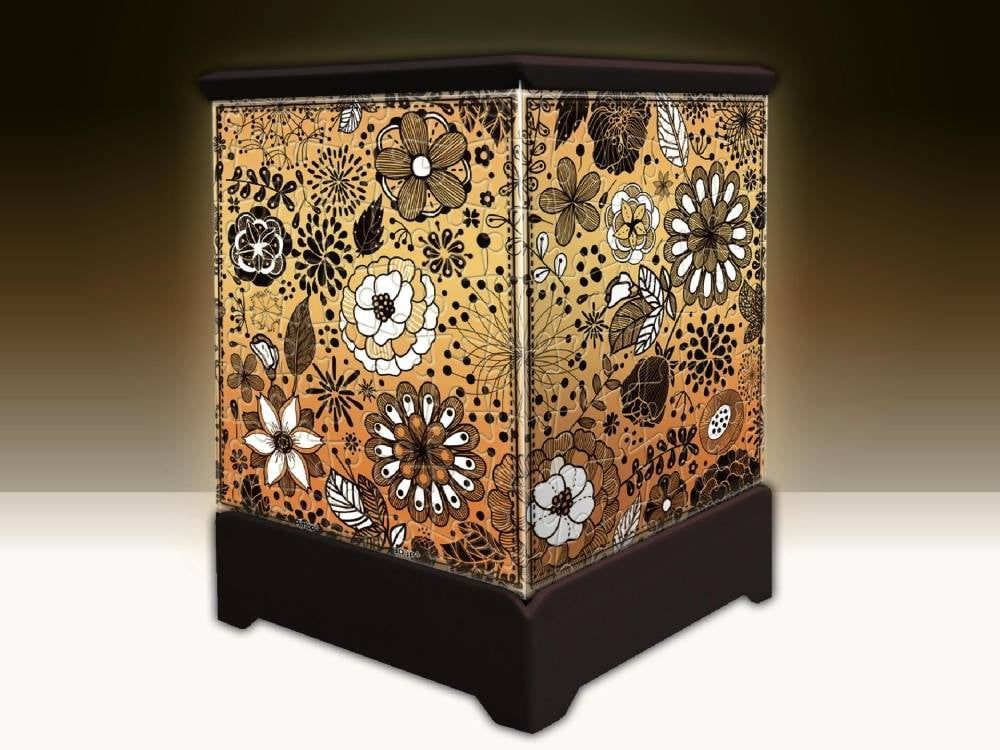3D Jigsaw Working Lantern Floral Design