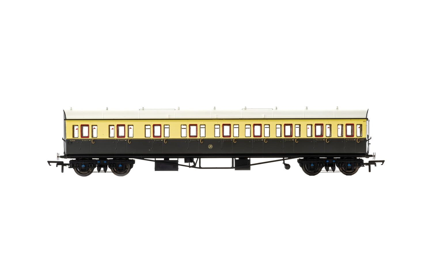 GWR, Collett 57' Bow Ended E131 Nine Compartment Composite (Left Hand), 6360 - Era 3
