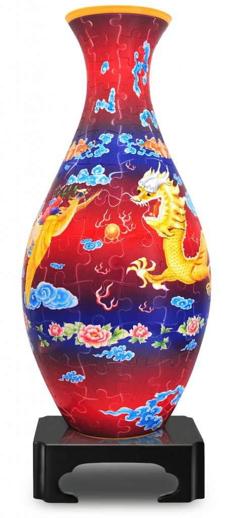3D Jigsaw Vase 160 Piece Puzzle and Model The Dragon and The Phoenix