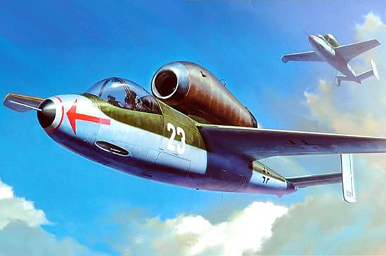Tamiya Heinkel He162 A-2 Salamander Plastic Model Aircraft