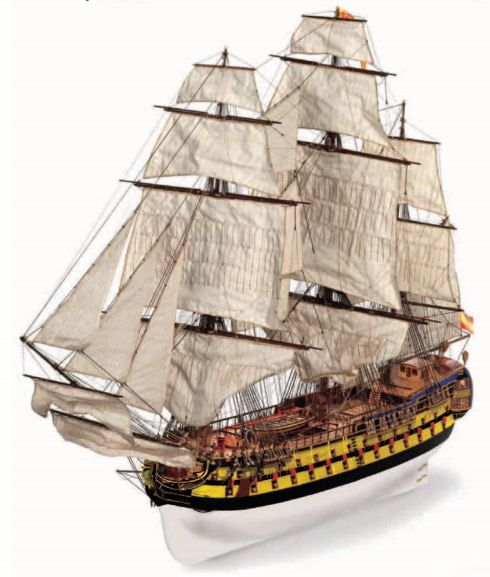 Occre San Ildefonso 74 Gun Ship 1:70 Scale Wood and Metal Large Model Boat Kit
