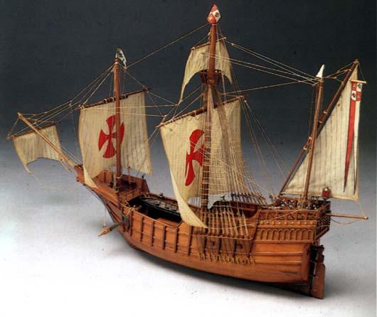 Mantua Models Santa Maria Model Ship Kit - Optional Pre-stitched Sail Set