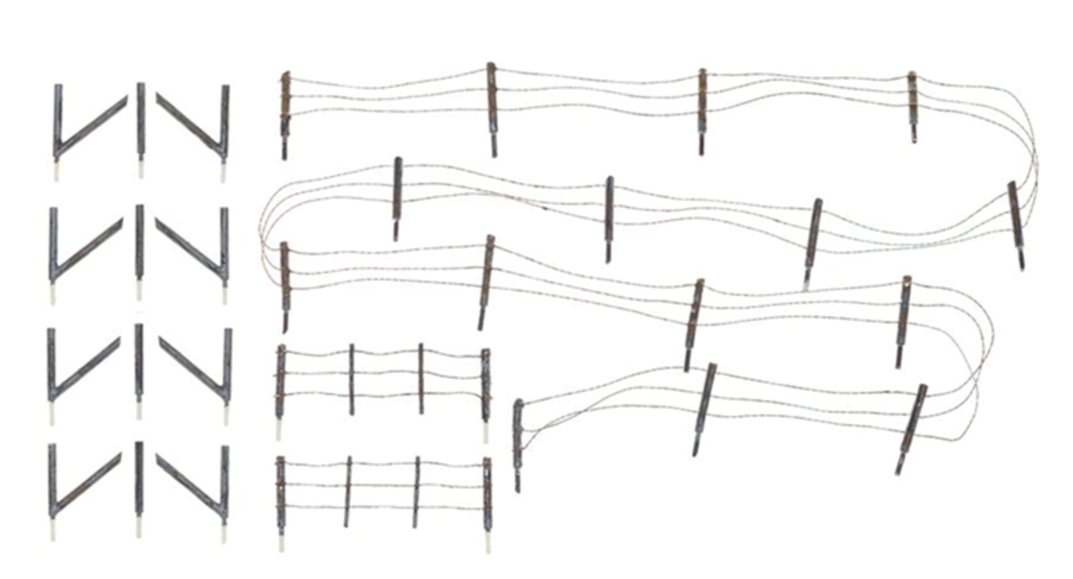 HO Scale Barbed Wire Fence